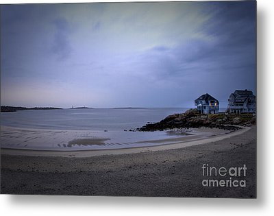 Into The Night In Cape Ann Metal Print by Brenda Giasson