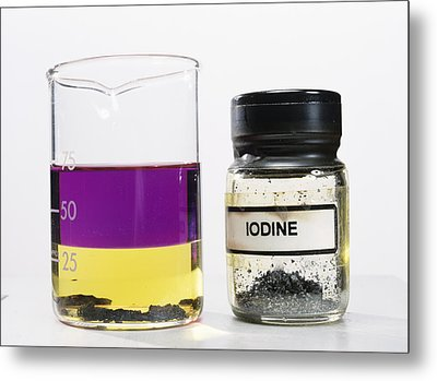 Iodine Properties Metal Print by Andrew Lambert Photography