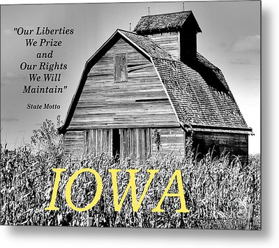 Metal Print featuring the photograph Iowa Pride by Lin Haring