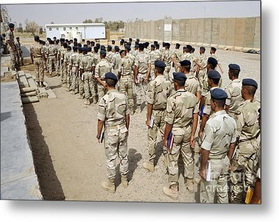 Iraqi Air Force College Cadets March Metal Print by Stocktrek Images
