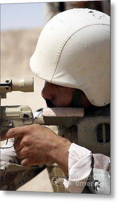 Iraqi Army Sergeant Sights Metal Print by Stocktrek Images