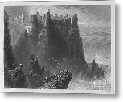 Ireland: Dunluce Castle Metal Print by Granger