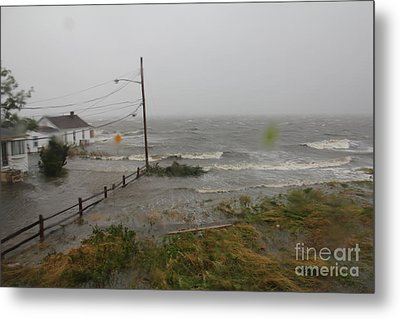 Irene And The Great South Bay Metal Print by Scenesational Photos