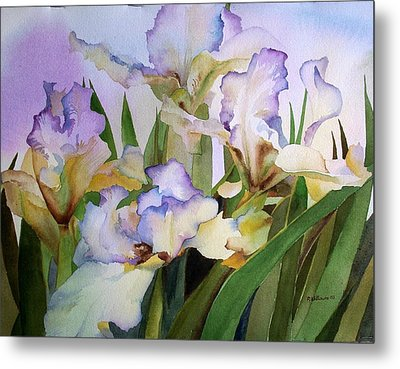 Metal Print featuring the painting Iris IIi by Richard Willows