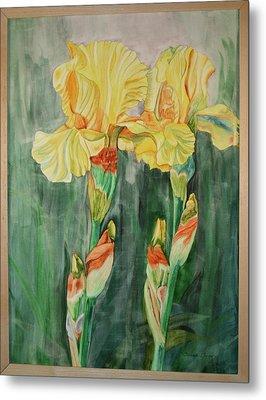 Metal Print featuring the painting Irises II by Teresa Beyer