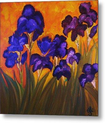 Irises In Motion Metal Print