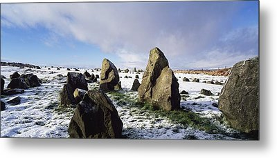 Irish Snow Scenes Co Tyrone, Beaghmore Metal Print by The Irish Image Collection