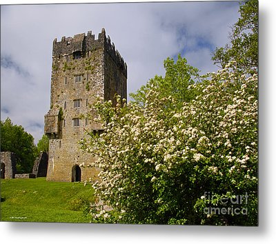 Irish Travel Landscape Aughnanure Castle Ireland Metal Print