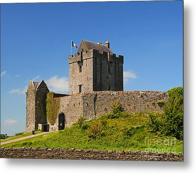 Irish Travel Landscape Dunguaire Castle Ireland Metal Print