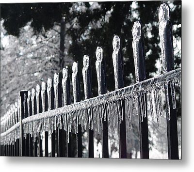 Metal Print featuring the photograph Iron And Ice 1 by Elizabeth Sullivan