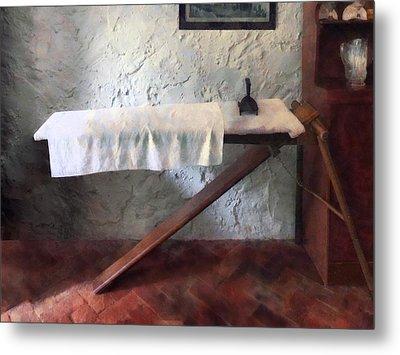Iron Board And Iron Metal Print by Susan Savad
