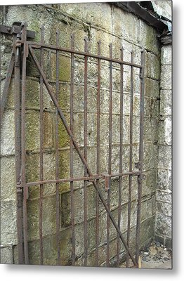 Metal Print featuring the photograph Iron Gate by Christophe Ennis