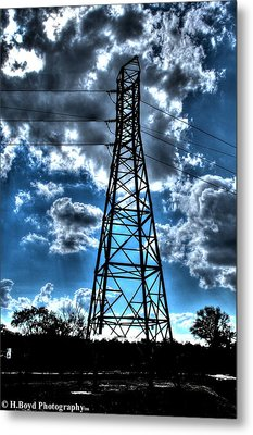 Iron In The Clouds Metal Print by Heather  Boyd