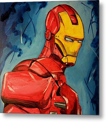 Iron Man Metal Print by Chris  Leon