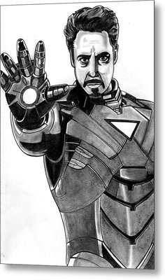 Iron Man Metal Print by Ralph Harlow