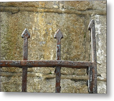Metal Print featuring the photograph Iron Spikes by Christophe Ennis