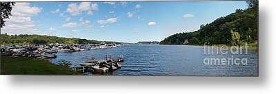 Metal Print featuring the photograph Irondequoit Bay Panorama by William Norton