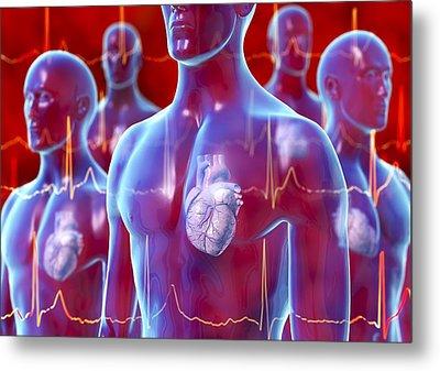 Irregular Heartbeat, Conceptual Artwork Metal Print by David Mack