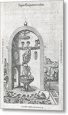 Irrigation System, 16th Century Artwork Metal Print by Middle Temple Library