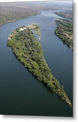 Island On The Zambezi River Metal Print by Tony Camacho