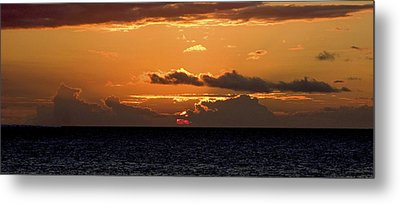 Island Sunset Metal Print by Michael Flood