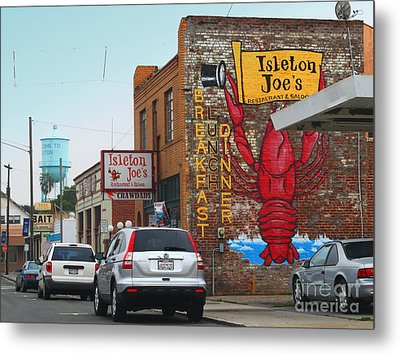 Isleton Joes Restaurant And Saloon In Isleton California Metal Print by Wingsdomain Art and Photography