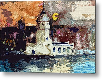 Istanbul Constantinople Metal Print by Mindy Newman