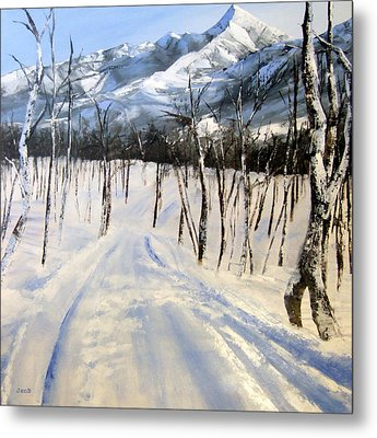 Istidan Mountain Metal Print by Jennifer  Blenkinsopp