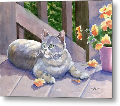 It Wasn't Me Metal Print by Marsha Elliott