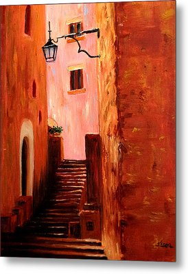 Italian Alley Metal Print by Suzzanna Frank