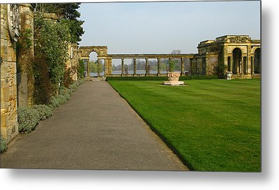Italian Gardens Metal Print by Maria Joy