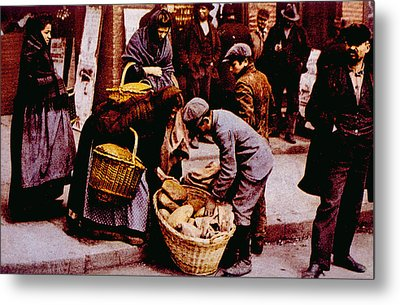 Italian Immigrants Selling Bread Metal Print by Everett