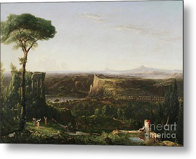 Italian Scene Composition Metal Print by Thomas Cole