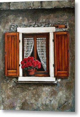 Metal Print featuring the painting Italian Window by Sarah Farren