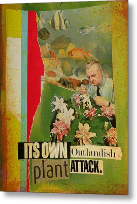 It's Own Outlandish Plant Attack Metal Print by Adam Kissel