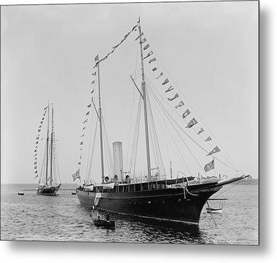 J. Pierpoint Morgans Second Yacht Metal Print by Everett