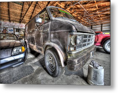 Jack Black's School Of Rock Van Metal Print by Nicholas  Grunas