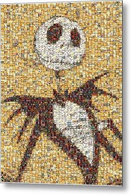 Jack Halloween Mosaic Metal Print by Paul Van Scott