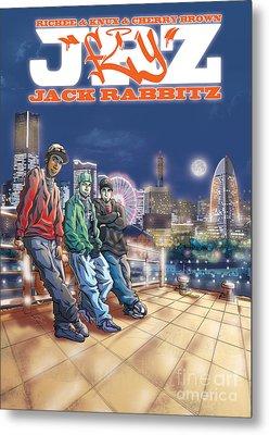 Jack Rabbitz Fly Metal Print by Tuan HollaBack