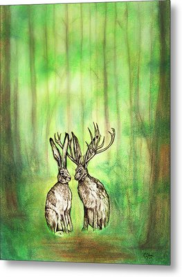 Into The Woods Metal Print by Carrie Jackson