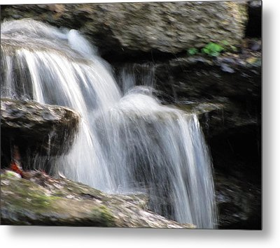 Metal Print featuring the photograph Jackson Hole Waterfall by Shawn Hughes