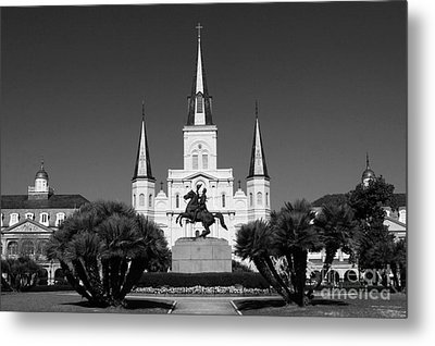 Metal Print featuring the photograph Jackson Square by Leslie Leda
