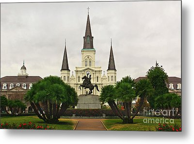 Jackson Square Metal Print by Perry Webster