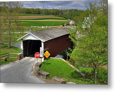 Metal Print featuring the photograph Jacksons Sawmill Covered Bridge by Dan Myers