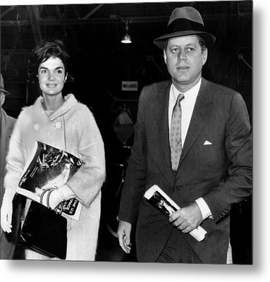 Jacqueline Kennedy And John F. Kennedy Metal Print by Everett