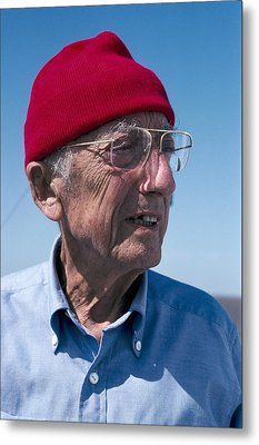 Jacques-yves Cousteau, French Diver Metal Print by Alexis Rosenfeld