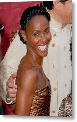 Jada Pinkett Smith At Arrivals For The Metal Print by Everett