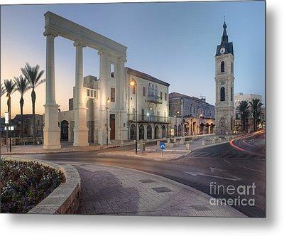 Jaffa Clock Tower Metal Print by Noam Armonn