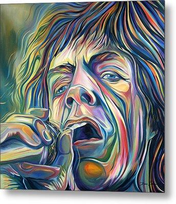 Jagger Metal Print by Redlime Art