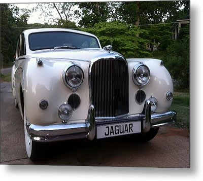 Metal Print featuring the photograph Jaguar 1959 by Elizabeth Coats